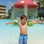 My little man at the pool