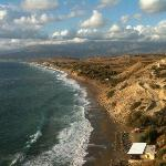 Komo-Beach von der Taverne Vraos aus gesehen