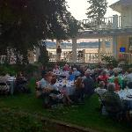 guests enjoying live entertainment and view