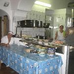 Mamma & papi in their veru clean kitchen