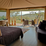 View from tented safari suite