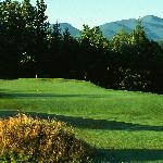 Four of the 46 Adirondack High Peaks are clearly visible from the 6th green of the Lake Placid C