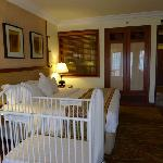 Bedroom, with optional baby cot