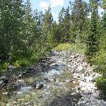 River on walk up towards lake