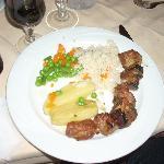 Pork Souvlaki is tender and savory.