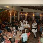 Dancers perform throughout the evening at Geros Tou Moria.