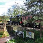 Train departing Hampton Loade