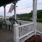 Porch overlooking the Harbor