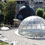 The glass dome above the spa