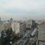 Aussicht aus dem 8. Stock blickend auf Porto