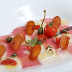 Tuna and swordfish carpaccio