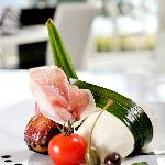 Burrata with Culatello and figs