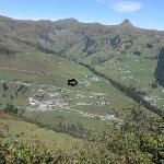 Überblick über Damüls mit Hotel Alpenstern