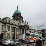 Busy street at the front of Custom House
