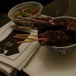 Dinner Starter : Venison satay with peanut sauce