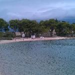 flott strand ved hotellet