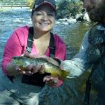 I caught my first trout!