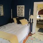The smaller bedroom of the Maisonette Suite.