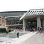 entrance to the Acropolis museum
