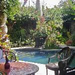 Pool area hangout