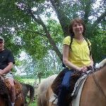 My wife and I getting ready to go horseback riding for the first time