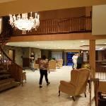 La réception de l'hôtel Universel...