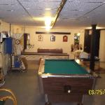 Game room at Marina Motel