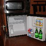 complimentary stocked fridge