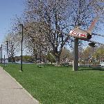 Brockville's Golden Hawk is displayed in the park on Blockhouse Island