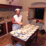 Lucia preparing Dinner
