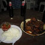 Our meat, pap, and chakalaka