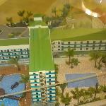 Maquette de l'hotel de derrière