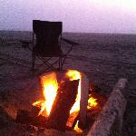 Campfire on the beach- no permission needed
