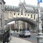 Outside view of the bridge link to the Cathedral.