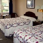 Beautiful quilts on our beds