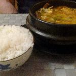 Korean spicy beef soup