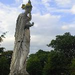 Statue in the drive
