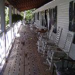 Relax on our spacious front porch.  Comfortable rockers to set in and enjoy the sunsets.