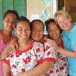 My partner with the delightful Tongan staff