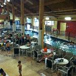 Klondike Kavern: Part of the lazy river and seating