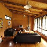 Rammed earth bungalow, interior