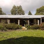 Rammed earth bungalow, exterior