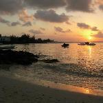 Sunset on Pereybere Beach
