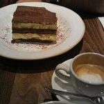 Tiramisu and a café macchiato