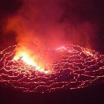 The lava lake offers the most at night
