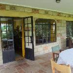 The Verandah Porch overlooks the grounds.