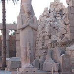 Ramses the second statue