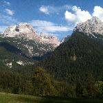 Il panorama fronte Chalet