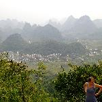 View of the karst mountains from Moon Hill