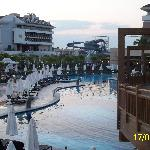 Main pool with slides in background